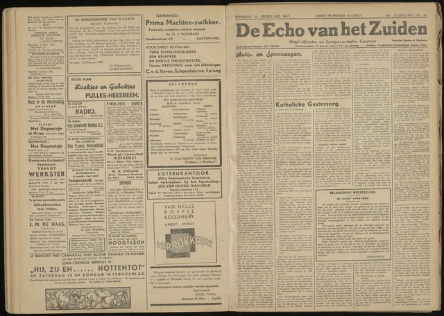 Echo van het Zuiden 1947-02-18