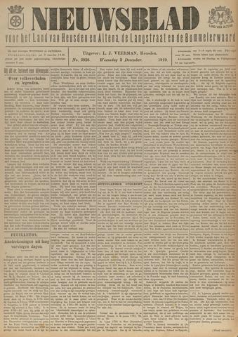 Nieuwsblad het land van Heusden en Altena de Langstraat en de Bommelerwaard 1919-12-03