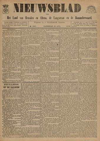 Nieuwsblad het land van Heusden en Altena de Langstraat en de Bommelerwaard 1896-08-29