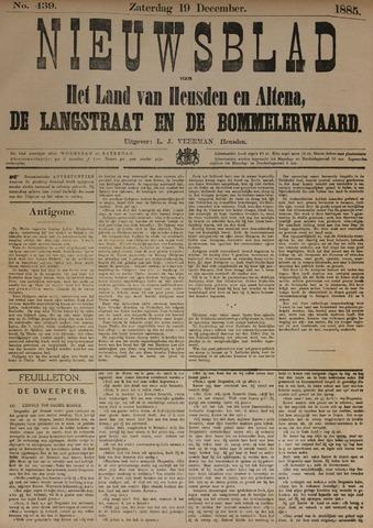 Nieuwsblad het land van Heusden en Altena de Langstraat en de Bommelerwaard 1885-12-19