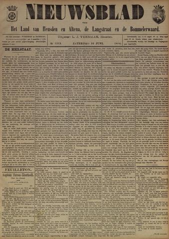 Nieuwsblad het land van Heusden en Altena de Langstraat en de Bommelerwaard 1894-06-16