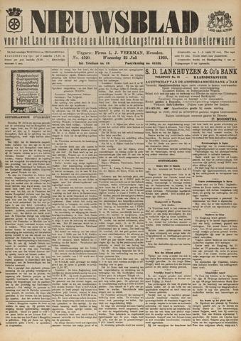 Nieuwsblad het land van Heusden en Altena de Langstraat en de Bommelerwaard 1925-07-22