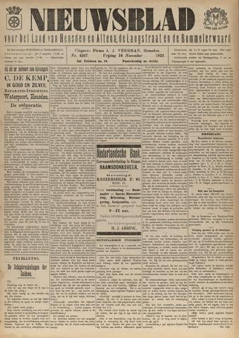 Nieuwsblad het land van Heusden en Altena de Langstraat en de Bommelerwaard 1923-11-16