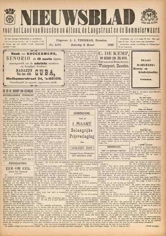 Nieuwsblad het land van Heusden en Altena de Langstraat en de Bommelerwaard 1922-03-04