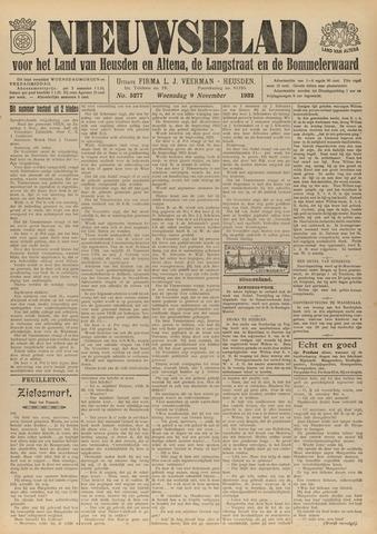 Nieuwsblad het land van Heusden en Altena de Langstraat en de Bommelerwaard 1932-11-09