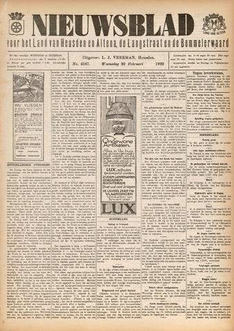 Nieuwsblad het land van Heusden en Altena de Langstraat en de Bommelerwaard 1922-02-22