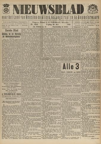 Nieuwsblad het land van Heusden en Altena de Langstraat en de Bommelerwaard 1925-05-22