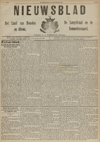 Nieuwsblad het land van Heusden en Altena de Langstraat en de Bommelerwaard 1891-11-28