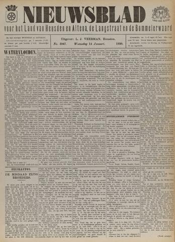 Nieuwsblad het land van Heusden en Altena de Langstraat en de Bommelerwaard 1920-01-14