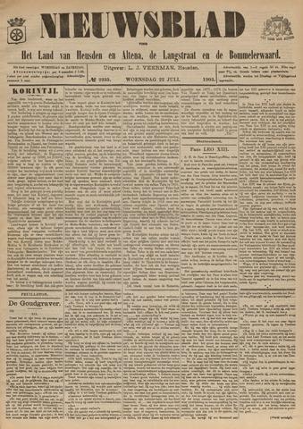 Nieuwsblad het land van Heusden en Altena de Langstraat en de Bommelerwaard 1903-07-22