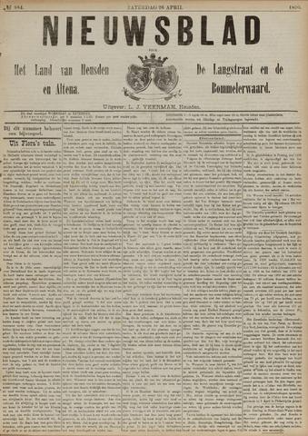 Nieuwsblad het land van Heusden en Altena de Langstraat en de Bommelerwaard 1890-04-26