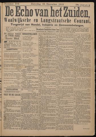 Echo van het Zuiden 1915-12-25