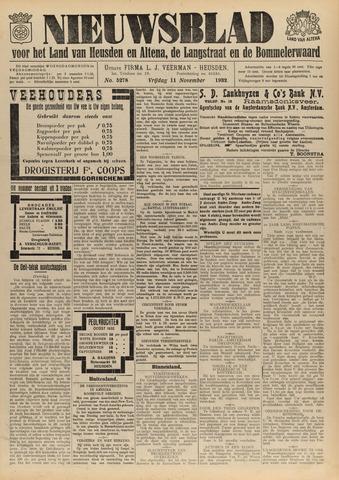 Nieuwsblad het land van Heusden en Altena de Langstraat en de Bommelerwaard 1932-11-11