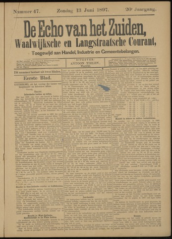 Echo van het Zuiden 1897-06-13