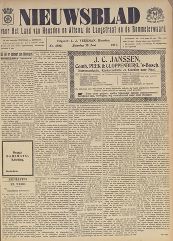 Nieuwsblad het land van Heusden en Altena de Langstraat en de Bommelerwaard 1917-06-23