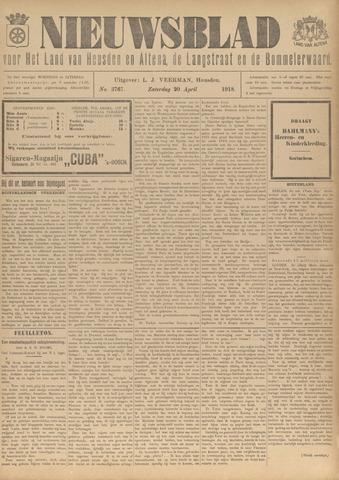 Nieuwsblad het land van Heusden en Altena de Langstraat en de Bommelerwaard 1918-04-20