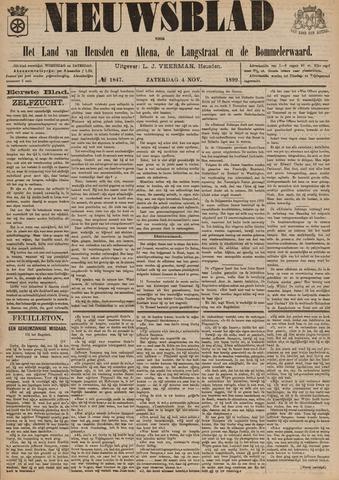 Nieuwsblad het land van Heusden en Altena de Langstraat en de Bommelerwaard 1899-11-04