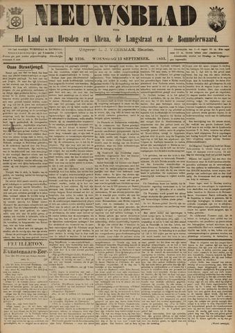 Nieuwsblad het land van Heusden en Altena de Langstraat en de Bommelerwaard 1893-09-13