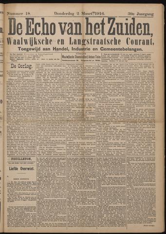 Echo van het Zuiden 1916-03-02