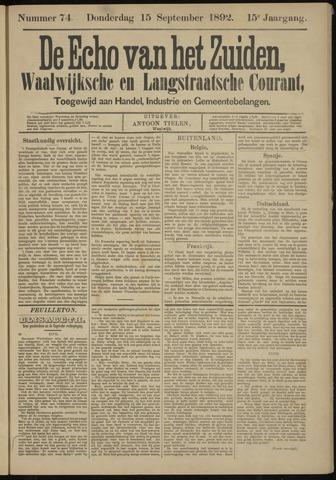 Echo van het Zuiden 1892-09-15