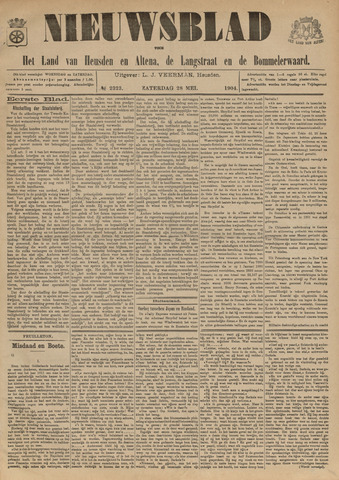 Nieuwsblad het land van Heusden en Altena de Langstraat en de Bommelerwaard 1904-05-28