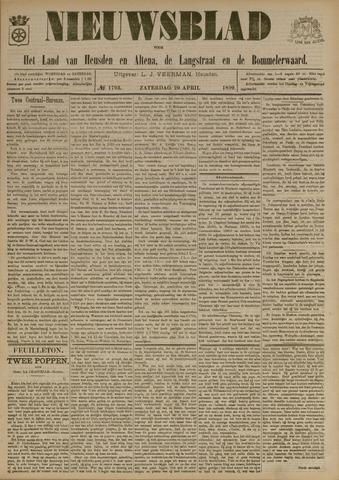 Nieuwsblad het land van Heusden en Altena de Langstraat en de Bommelerwaard 1899-04-29