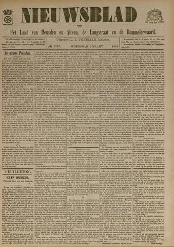 Nieuwsblad het land van Heusden en Altena de Langstraat en de Bommelerwaard 1899-03-01