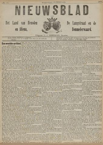 Nieuwsblad het land van Heusden en Altena de Langstraat en de Bommelerwaard 1890-02-19