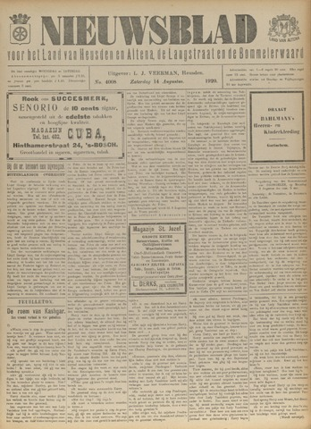 Nieuwsblad het land van Heusden en Altena de Langstraat en de Bommelerwaard 1920-08-14