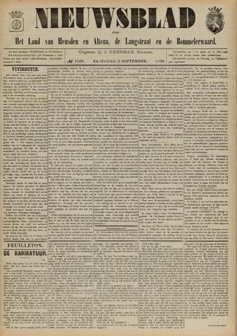 Nieuwsblad het land van Heusden en Altena de Langstraat en de Bommelerwaard 1892-09-03