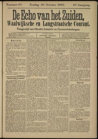 Echo van het Zuiden 1892-10-30