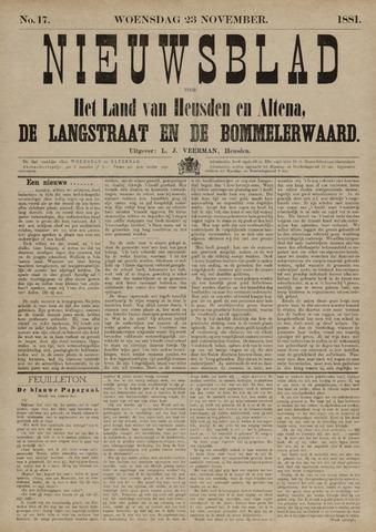 Nieuwsblad het land van Heusden en Altena de Langstraat en de Bommelerwaard 1881-11-23