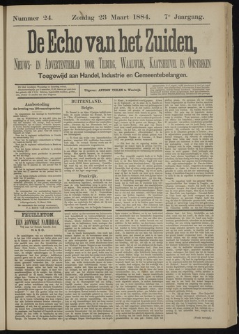 Echo van het Zuiden 1884-03-23