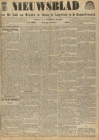 Nieuwsblad het land van Heusden en Altena de Langstraat en de Bommelerwaard 1915-10-02