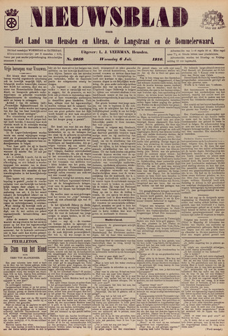 Nieuwsblad het land van Heusden en Altena de Langstraat en de Bommelerwaard 1910-07-06