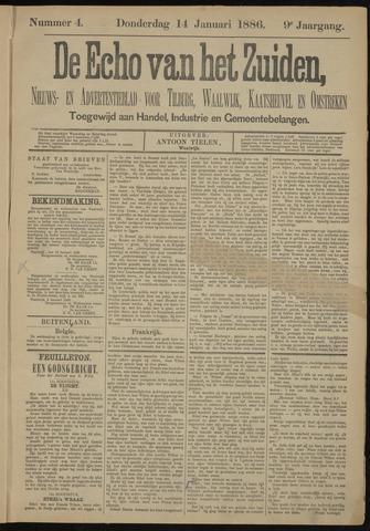 Echo van het Zuiden 1886-01-14