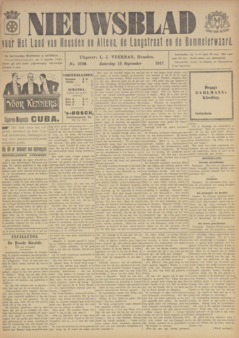 Nieuwsblad het land van Heusden en Altena de Langstraat en de Bommelerwaard 1917-09-15