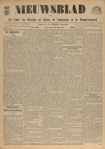 Nieuwsblad het land van Heusden en Altena de Langstraat en de Bommelerwaard 1905-11-15