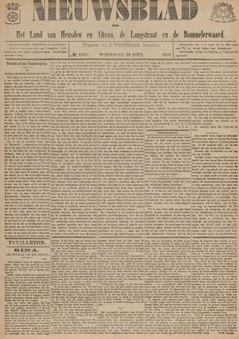 Nieuwsblad het land van Heusden en Altena de Langstraat en de Bommelerwaard 1897-09-22