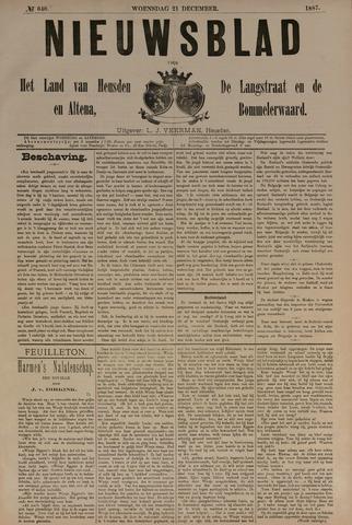 Nieuwsblad het land van Heusden en Altena de Langstraat en de Bommelerwaard 1887-12-21