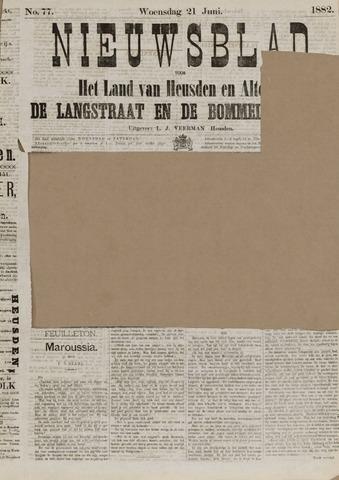 Nieuwsblad het land van Heusden en Altena de Langstraat en de Bommelerwaard 1882-06-21