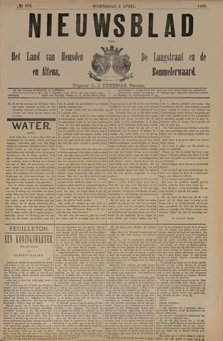Nieuwsblad het land van Heusden en Altena de Langstraat en de Bommelerwaard 1888-04-04