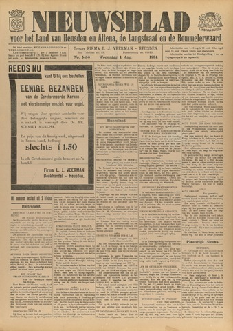 Nieuwsblad het land van Heusden en Altena de Langstraat en de Bommelerwaard 1934-08-01