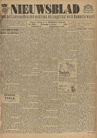 Nieuwsblad het land van Heusden en Altena de Langstraat en de Bommelerwaard 1922-10-04