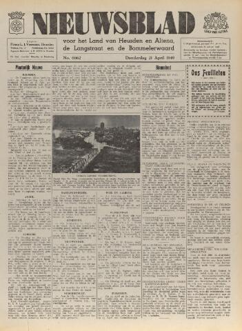 Nieuwsblad het land van Heusden en Altena de Langstraat en de Bommelerwaard 1949-04-21