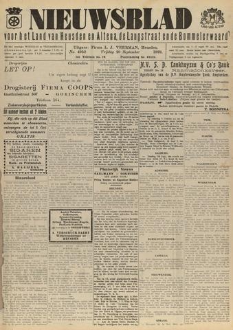 Nieuwsblad het land van Heusden en Altena de Langstraat en de Bommelerwaard 1929-09-20