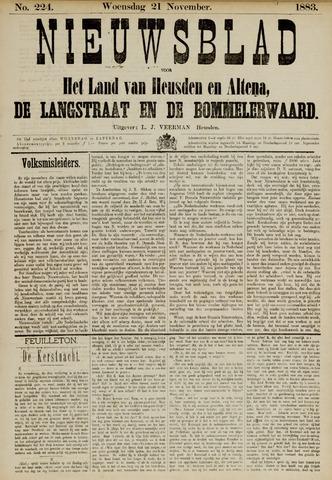 Nieuwsblad het land van Heusden en Altena de Langstraat en de Bommelerwaard 1883-11-21