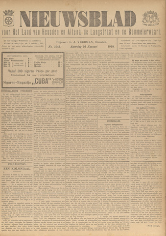 Nieuwsblad het land van Heusden en Altena de Langstraat en de Bommelerwaard 1918-01-26