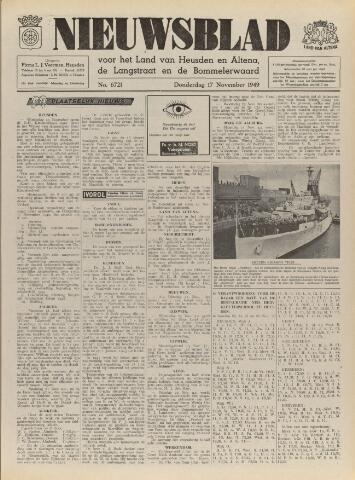 Nieuwsblad het land van Heusden en Altena de Langstraat en de Bommelerwaard 1949-11-17