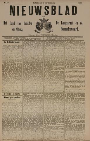 Nieuwsblad het land van Heusden en Altena de Langstraat en de Bommelerwaard 1888-09-01